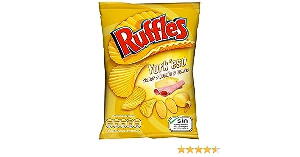 Ruffles - Patatas Fritas con Sabor a Jamón y Queso - 170 gr: Amazon.es: Alimentación y bebidas