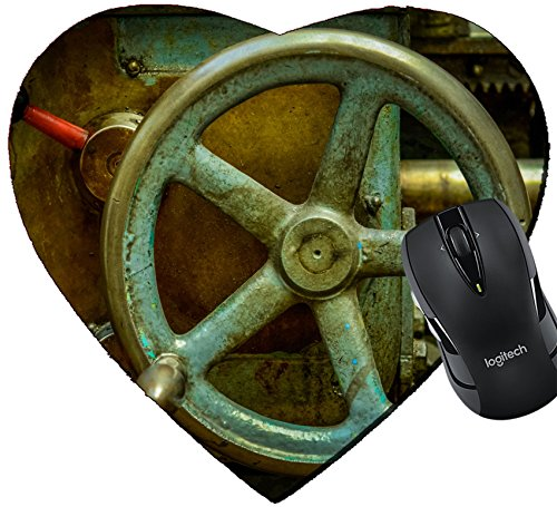 MSD Mousepad Heart Shaped Mouse Pads/Mat design 24540642 Detail Of A Vintage Industrial Metal Working Lathe