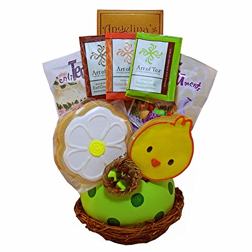 Spring Favorites Bird Nest Cookies and Tea Gift Basket (Retirement Cookie Bouquet)