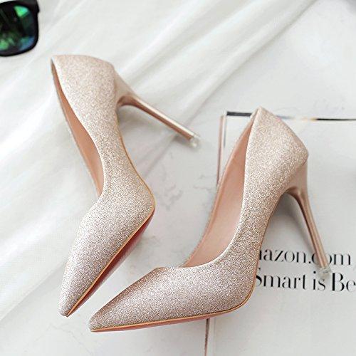 Mariage Talons Femmes Et 36 Chaussures Argent Centimtres 7 Fin Avec Sauvages Pointe De En Gold Pour zWfz4rBq