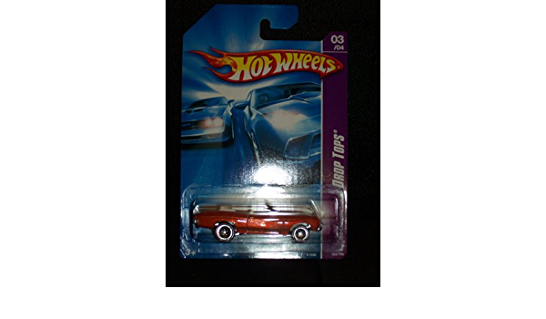 Hot Wheels 2007 083 83 Drop Tops Orange 70 Chevelle With Red Line Wheels 1:64 Scale
