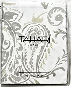 Amazon Com Tahari Luxury Cotton Blend Shower Curtain Gray
