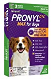 Sergeant's Pronyl OTC Max Dog Flea and Tick Sqz-On Flea Drops 23 to 44-Pound, 3 Count, My Pet Supplies
