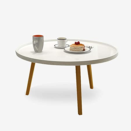Yinglihua Mesa de centro redonda moderna mesa redonda mesa de ...