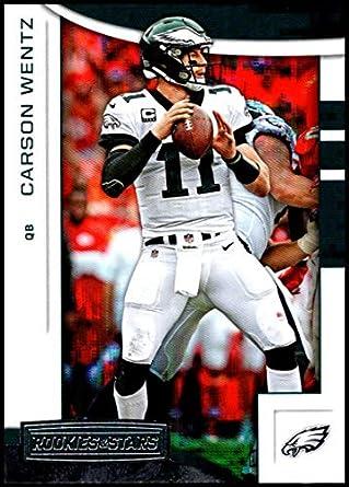 buy popular 8cdde 6061d Amazon.com: 2018 Rookies and Stars Football #7 Carson Wentz ...