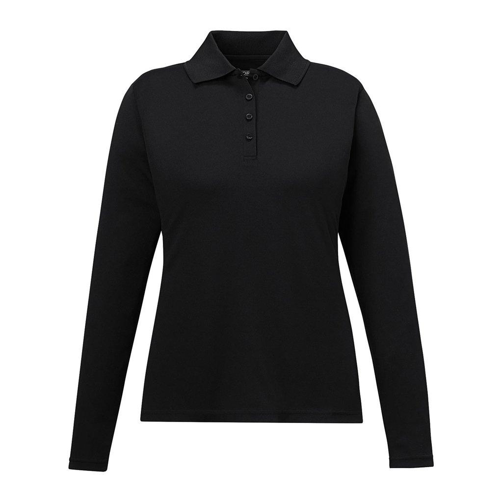 Ash City Ladies Pinnacle Core 365 Performance Polo (X-Small, Black)