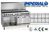 Imperial Commercial Restaurant Range 60'' With 10 Step Up Burner Oven/Cabinet Propane Ir-10-Su-Xb