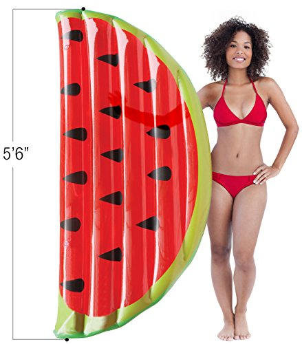 Matney Inflatable Pool Float Watermelon Slice — Perfect Lounger, Raft, Float for Pools, Lakes, Beaches, and Rivers — Great for Backyard, Pool Parties, Picnics, and more