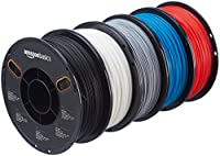 AmazonBasics PLA 3D Printer Filament, 1.75mm, 5 Assorted Colors, 1 kg per Spool, 5 Spools by AmazonBasics
