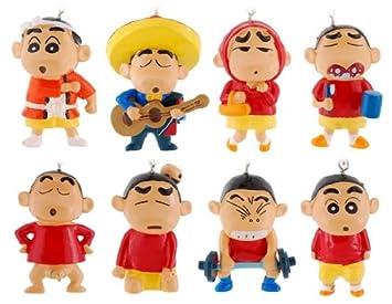 8pcs 4-7cm Crayon Shin-chan Llaveros: Amazon.es: Juguetes y ...