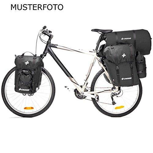 CROSSO EXPERT SMALL CO1004 40 L Set Fahrradtasche Biketasche Gepäckträgertasche schwarz