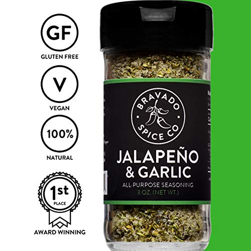 Jalapeno and Garlic All-Purpose Seasoning | Gluten Free | Vegan | All Natural