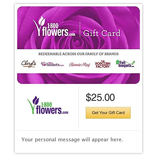 1-800 Flowers.com Gift Cards - E-mail Delivery (Card 1 Gift)