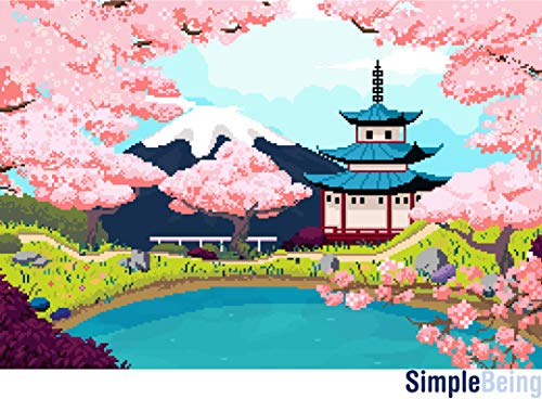 Simple Being 750 Piece Jigsaw Puzzles, Puzzle Game Toy for Adults and Kids (Cherry Blossoms)