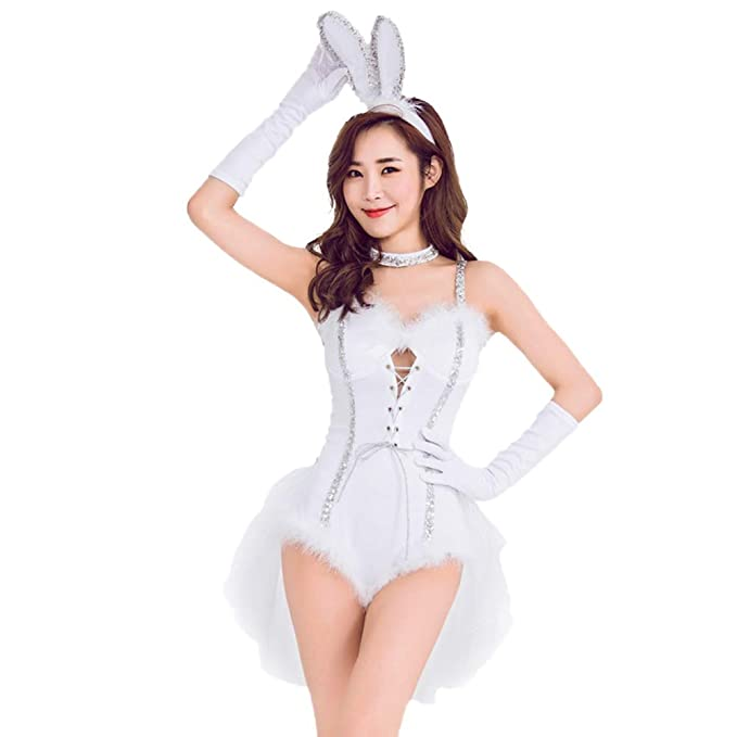 Amazon.com: Precioso disfraz de conejo para mujer y niña ...