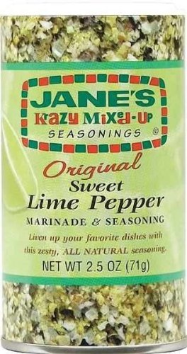 Jane's Krazy Mixed-Up Original Sweet Lime Pepper Marinade & Seasoning 2.5oz Canister (Pack of 3)