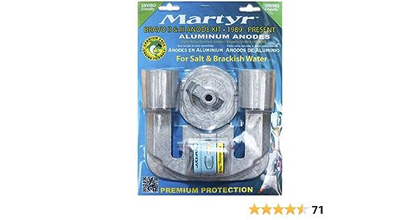 Martyr MerCruiser Bravo 1 one Magnesium Fresh Water Anode Zinc KIT CMBRAVO1KITM