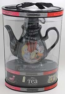 Disney Parks Exclusivo: Tetera Disney Wonderland + 20 Teabags/5 sabores, jardín, césped, mantenimiento