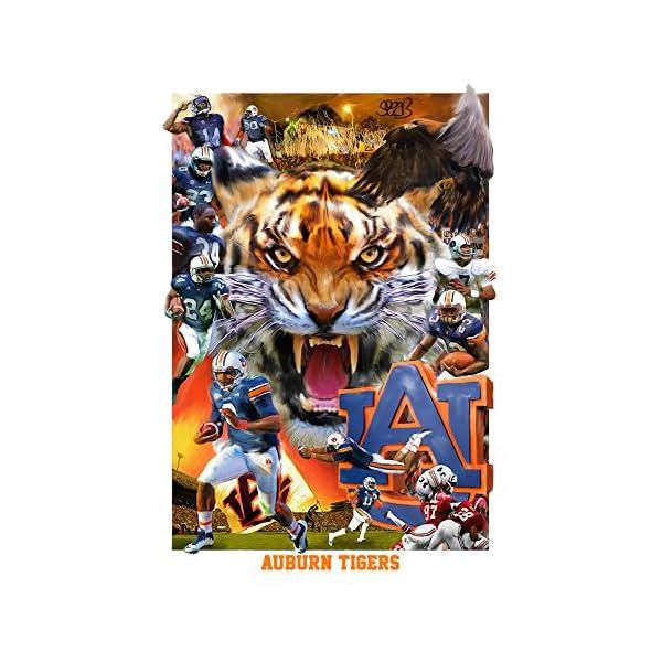 FitBoost Auburn Tigers Football War Eagle Fine Art Print by Mark Spears