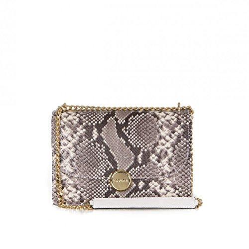 Arcadia compact concepteur python serpent sac en cuir d'épaule d'impression Suzy - marron
