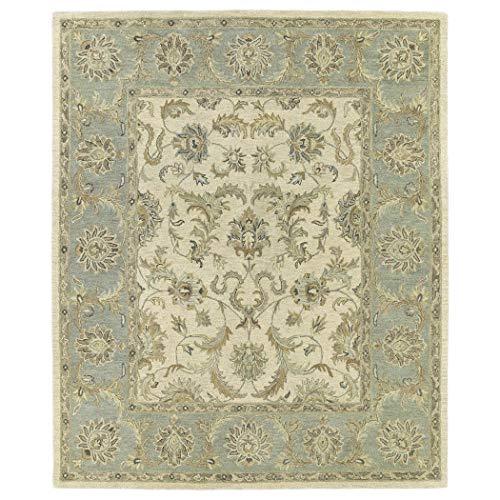 Bombay Home Hand-Tufted Joaquin Beige Kashan Wool Rug (8' x 10') - 8' x 10'