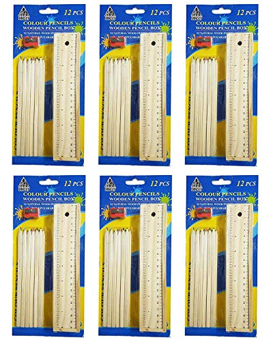 Confidence Wooden Pencils for Students, Stationery Items for Kids Boys and Girls, Birthday Return Gifts Pencils, 15 Gram, Pack of 1 (Set of 6)