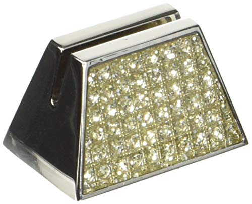 Nouvelle Collections NCPLACE Elegant Place Card Holder (Set of 4), Silver Glitter (Card Napkin Holder Place Ring)