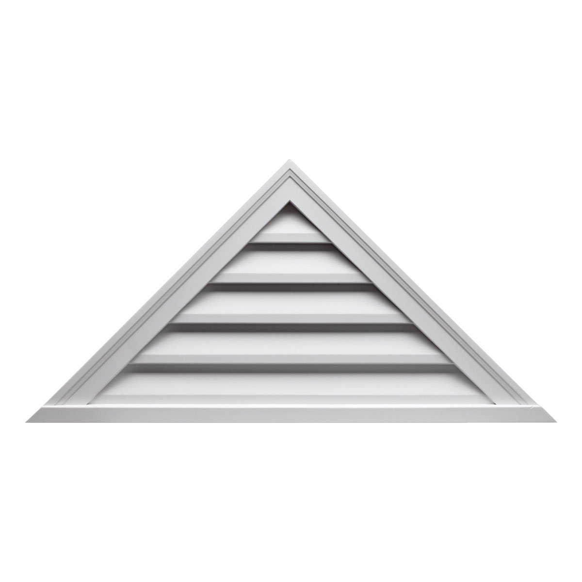 Fypon FTRLV66X22 66''W x 22''H Pitch 8/12, Triangle Functional Louver