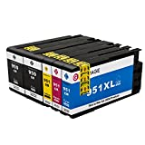 GPC 950 951 XL Ink Cartridge (Updated Chip) 5 Pack Compatible for HP 950XL 951XL for HP Officejet Pro 8610 8615 8620 8625 8630 8635 8640 8100 8660 8600 251dw 276dw 271dw Printer