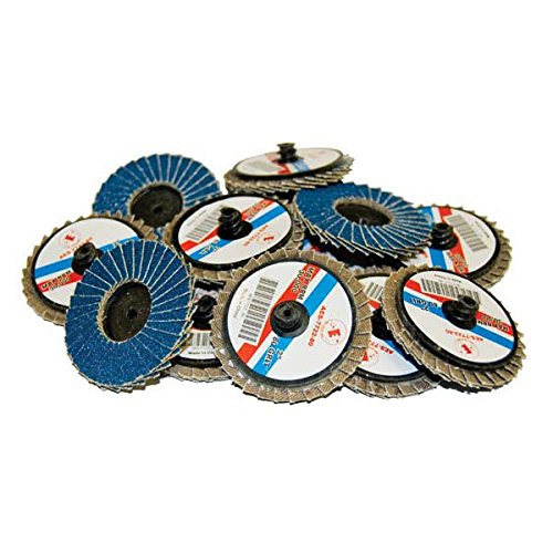 AES Industries 7722-60 2 inch Blue Zirconia Rolok Flap Discs, 60 Grit, Coarse (12 Pack)