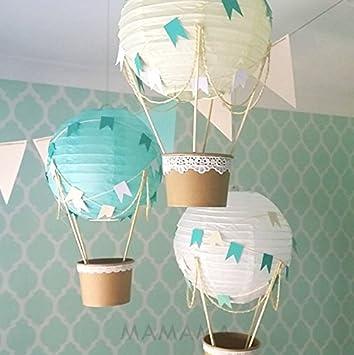 Whimsical Hot Air Balloon DIY Kit   Nursery Decoration   Baby Shower    Travel Theme Nursery