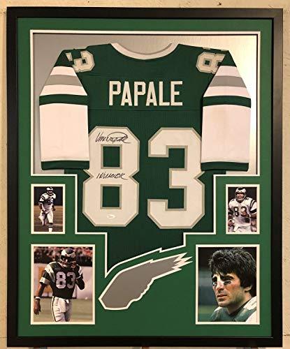Vince Papale Autographed Signed Custom Framed Philadelphia Eagles Green Jersey - JSA Authentic Memorabilia (Green Signed Eagles Jersey)