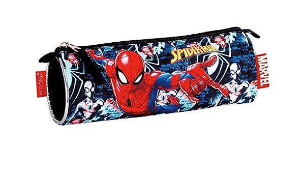 Spiderman- Estuche Portatodo, Multicolor, 22 centímetros (Montichelvo 55773): Amazon.es: Juguetes y juegos