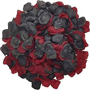 Wootkey 10 Pcs Plastic Artificial Flowers California Berries Rich Red Artificial Berry Stems Holly Christmas Berries for Festival Holiday and Home Decor (Rose Petal Wine red) 1