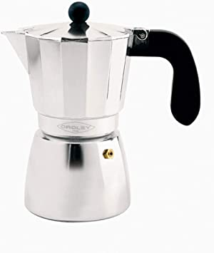 Oroley - Cafetera Italiana Alu | Aluminio | 6 Tazas | Cafetera Vitrocerámica, Fuego y Gas | Estilo Tradicional: Amazon.es: Hogar