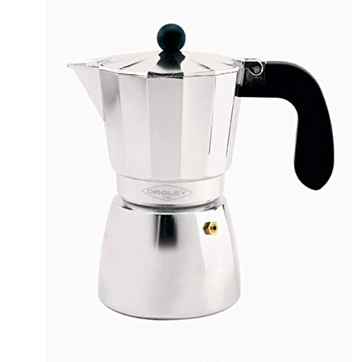 Oroley - Cafetera Italiana Alu de Aluminio, 6 Tazas