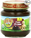 Earths Best Organic Stage 1, Prunes, 2.5 Ounce Jar (Pack of 12)