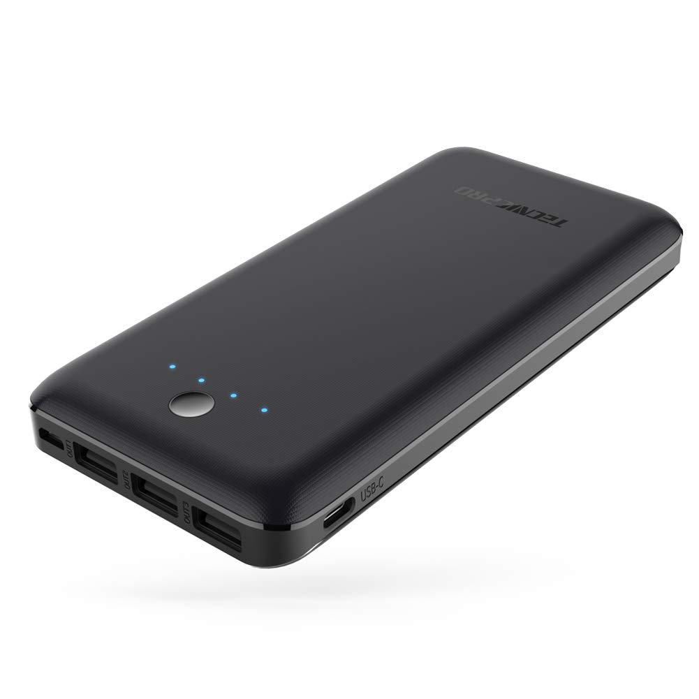 Portable Charger TECNICPRO P26 26800mAh External Battery 5.8A Output 3-Port Power Bank Dual Input (Micro and USB C) for iPhone, iPad Samsung Galaxy, Android Smart Devices and More- Black