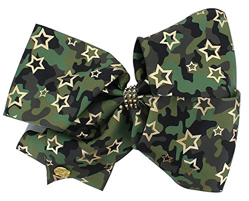 (JoJo Siwa Large Cheer Hair Bow (Green Camo))