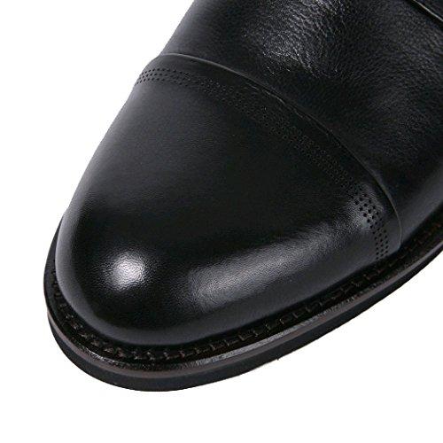 di Cerimonia Sangue Estate Abiti Scarpe Scarpe per Singole da Scarpe Circolazione Black del Uomo per Cuoio La Uomo da Scarpe Scarpe YIWANGO Singole xpqgaIwa