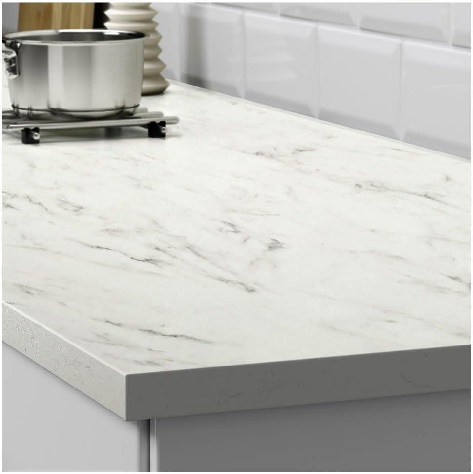 Ikea Asie Ekbacken Plan De Travail Effet De Marbre Blanc Amazon