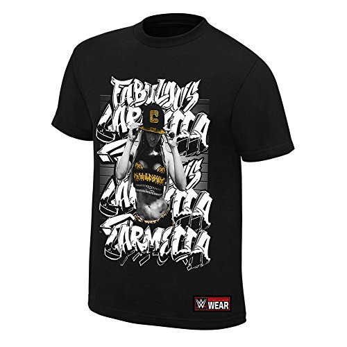 WWE Carmella Fabulous Youth Authentic T-Shirt Black Medium by WWE Authentic Wear