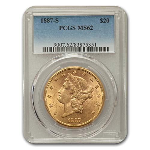 1887 S $20 Liberty Gold Double Eagle MS-62 PCGS G$20 MS-62 PCGS