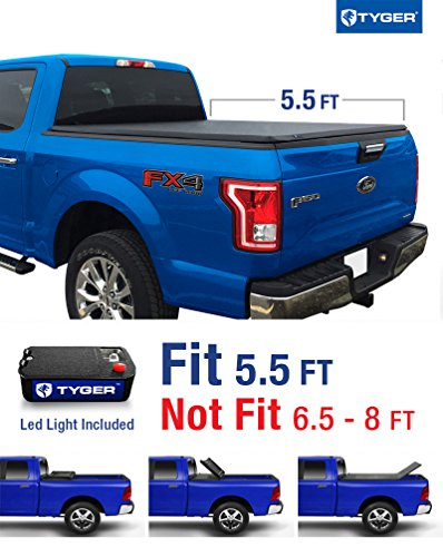 Fold Truck Cover Tonneau (Tyger Auto TG-BC3F1041 TRI-FOLD Truck Bed Tonneau Cover 2015-2018 Ford F-150 | Styleside 5.5' Bed)