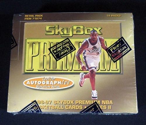 Lot of (3) 1996/97 Skybox Premium Series 2 Basketball Retail Boxes 18 Pks Bryant - NBA Basketball Cards