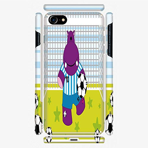 Phone Case Compatible with 3D Printed iPhone 7/iPhone 8 DIY Fashion Picture,Soccer Goal Keeper Football Cartoon Print,Apple,Personalized Designed Hard Plastic Cell Phone Back Cover Shell Protective (Control Soccer Keeper)