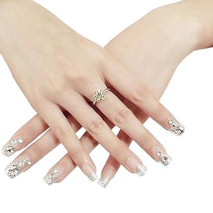 Elegante boda novia uñas joyería francés uñas arte de uñas para uñas postizas, # 10