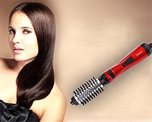 Hair Roller Automatic Hair Dryer Brush With 2 Rotating Brush Professional Electric Hair Blow Comb Curling Iron Hair Styler Comb Green by HAHUHERT (Image #4)