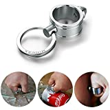 Generic Modern Stainless Steel Key Chain Self-Defence Ring Creative Design 70*30mm Gift