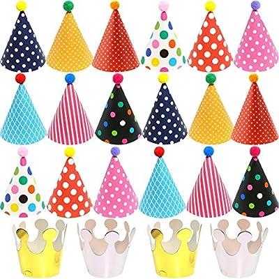 BEATZY 22pcs Gorros de Fiesta Sombreros del Cono de La ...